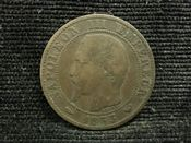 France, Napoleon III, 5 Centimes 1853 W (Lille), F, JAT703